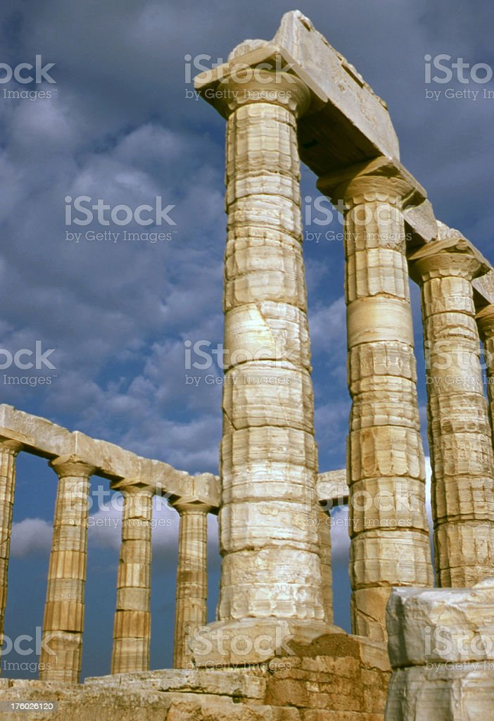 The Temple of Poseidon royalty-free stock photo