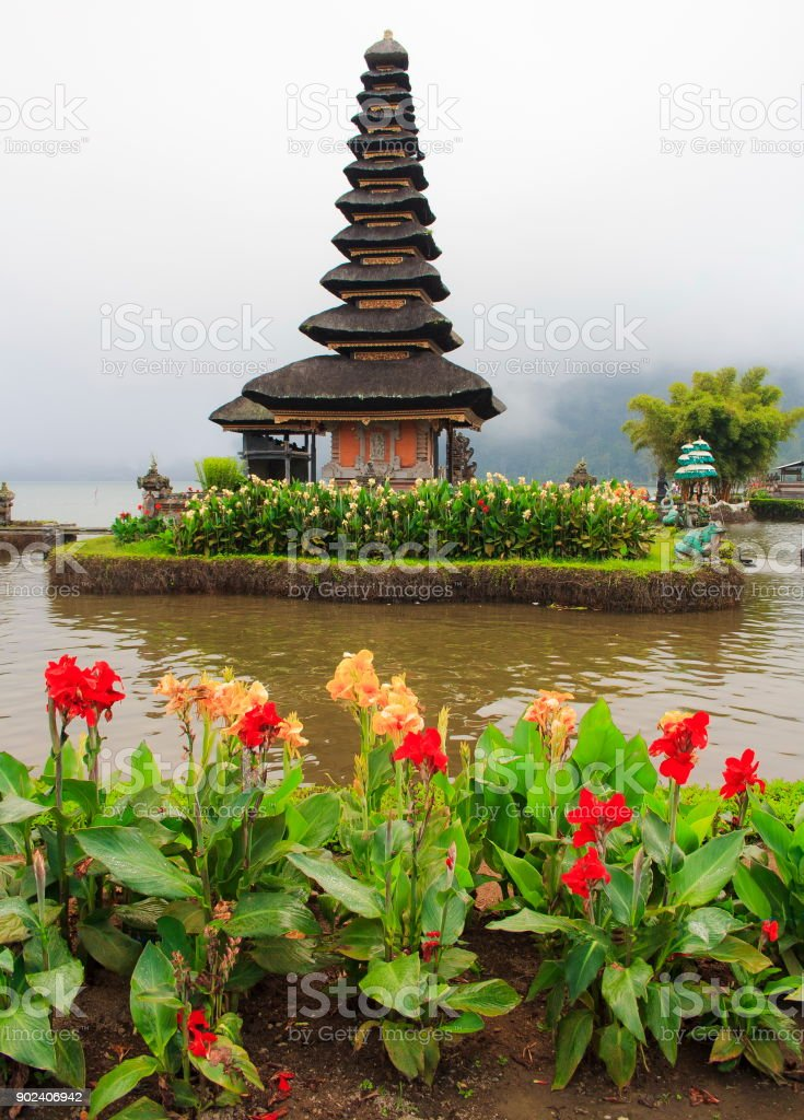 The Temple Of Pura Ulun Danu Bratan. Bali island. Indonesia. stock photo