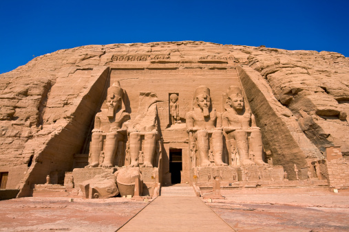 The Temple of Rameses II at Abu Simbel