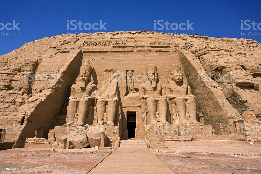 The Temple of Rameses II at Abu Simbel stock photo