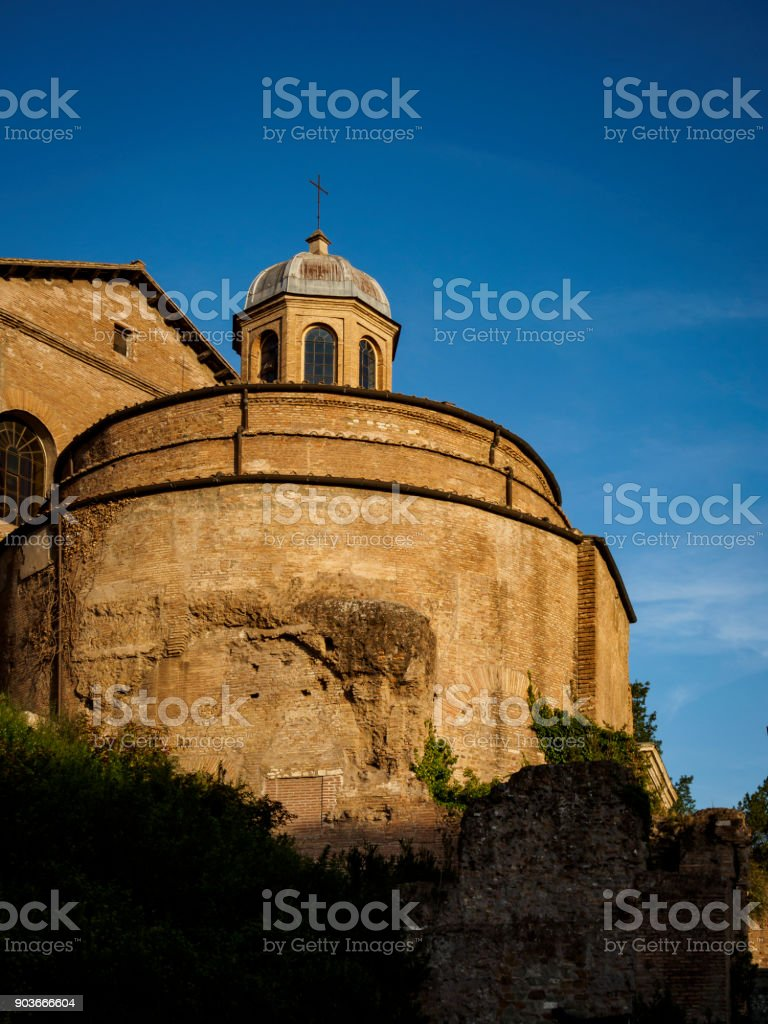 The Temple of Romulus, Rome, Italy stock photo