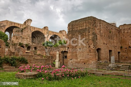 The House of the Vestal Virgins (Atrium Vestae), was the residence of the Vestal Virgins, the high priestesses of the cult of Vesta, Rome, Italy
