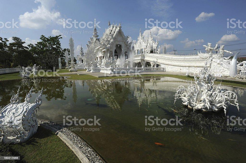The temple of Wat Rong Khun at Chiang Rai royalty-free stock photo