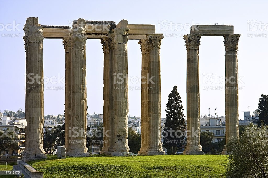 The temple of Zeus royalty-free stock photo