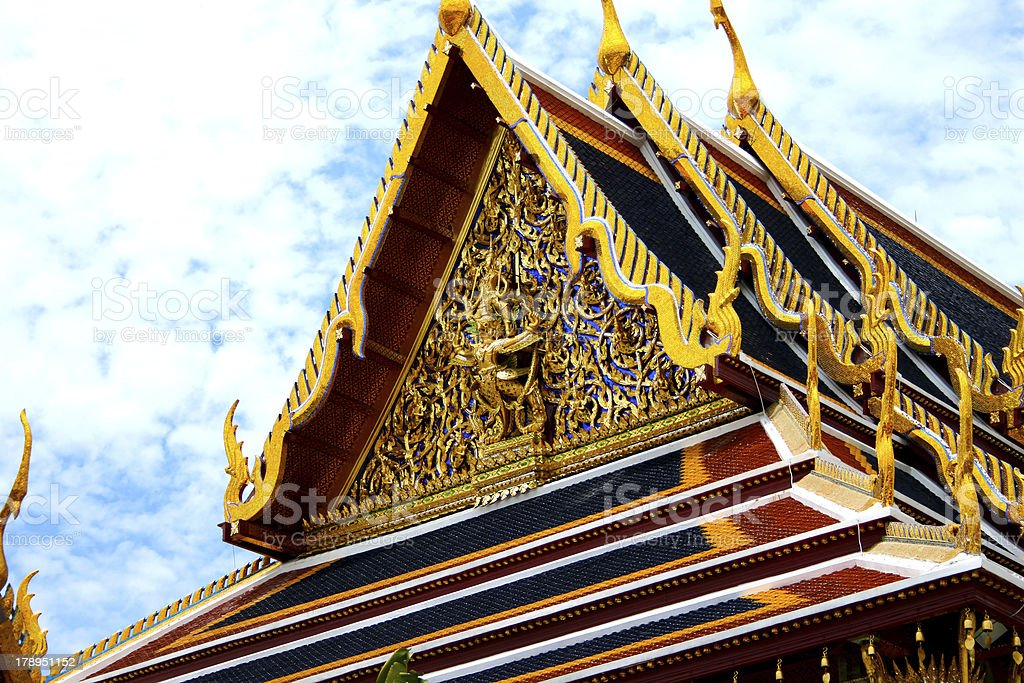 The temple Wat phra kaeo royalty-free stock photo