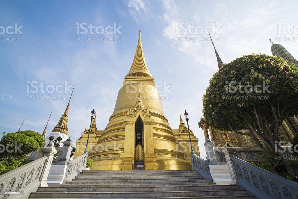 The temple Wat phra kaeo royalty-free stock photo