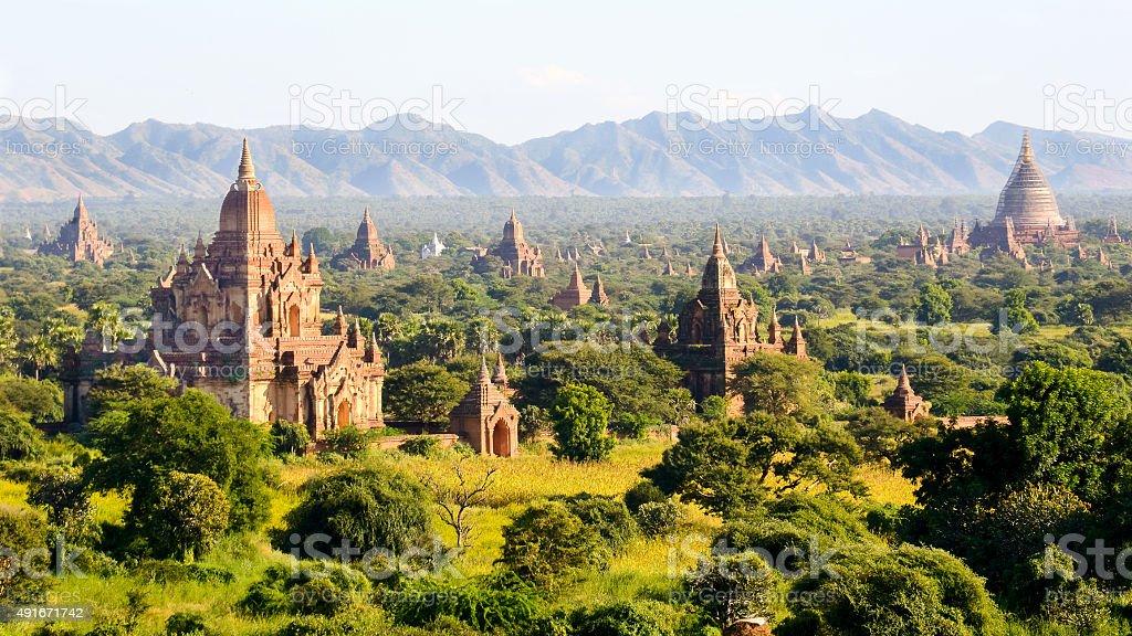 The Temples of bagan, Myanmar stock photo