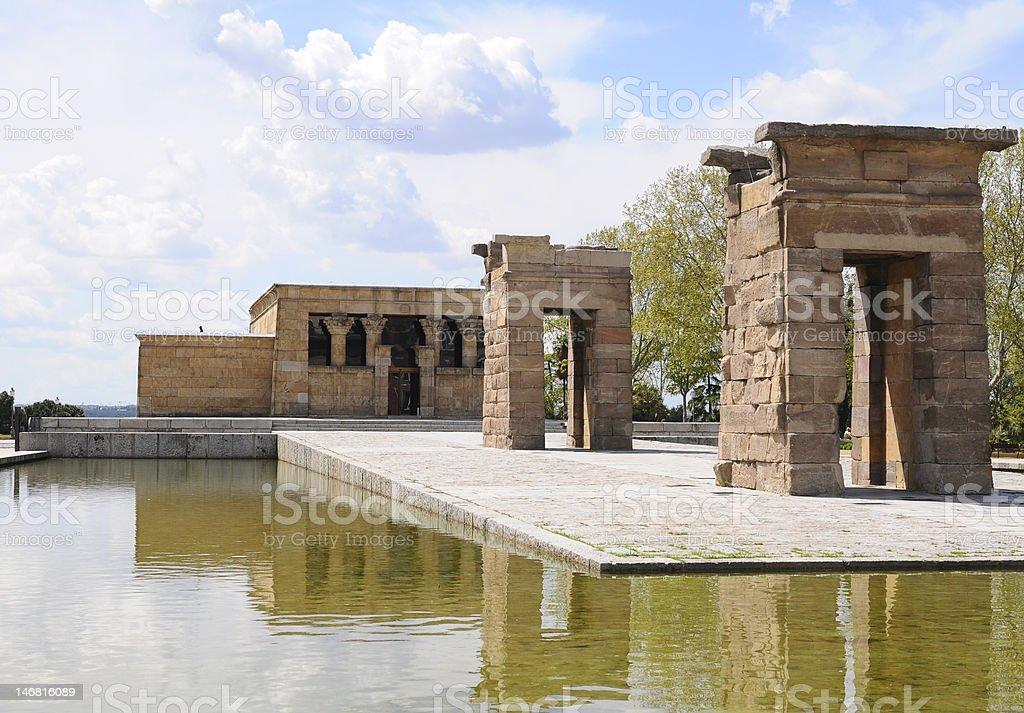 The Templo de Debod, Madrid, Spain stock photo