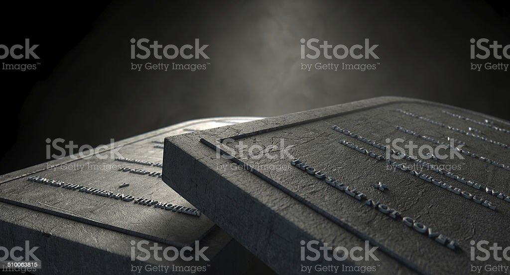 The Ten Commandments stock photo