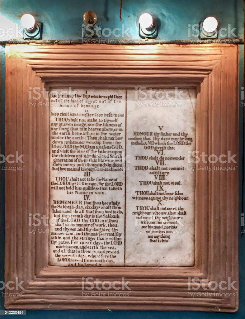 O Os Dez Mandamentos - foto de acervo