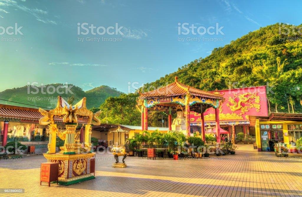 The Ten Thousand Buddhas Monastery in Hong Kong stock photo