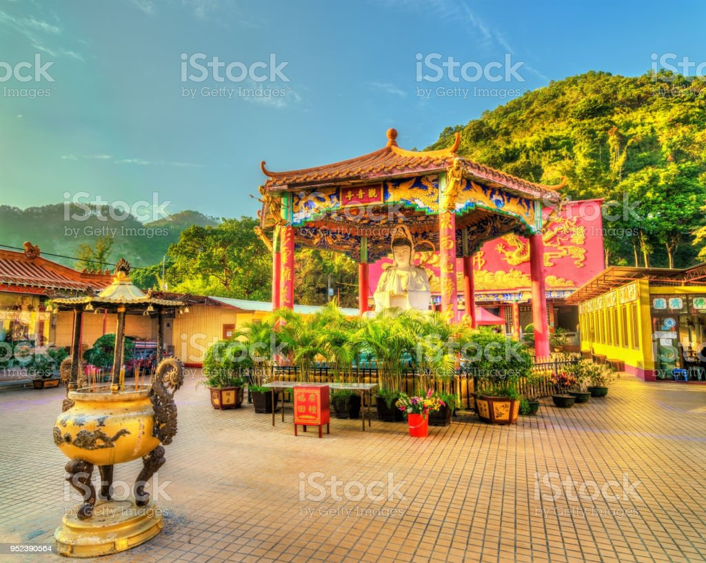The Ten Thousand Buddhas Monastery in Hong Kong View of the Ten Thousand Buddhas Monastery in Hong Kong, China Architecture Stock Photo