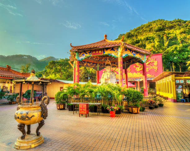 The Ten Thousand Buddhas Monastery in Hong Kong View of the Ten Thousand Buddhas Monastery in Hong Kong, China sha tin stock pictures, royalty-free photos & images