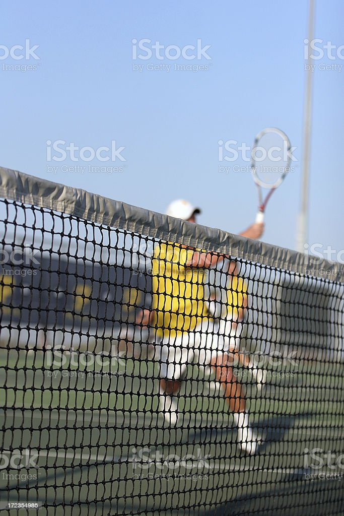The Tennis Match royalty-free stock photo
