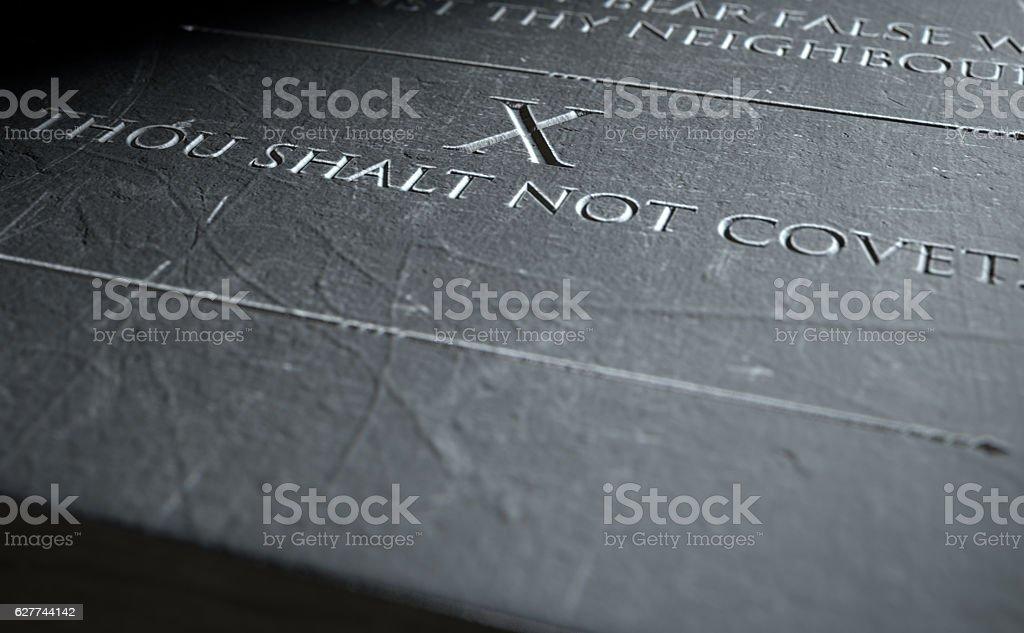 The Tenth Commandment stock photo
