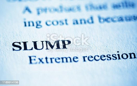 In an encyclopedia of business  terms, the term Slump is defined.