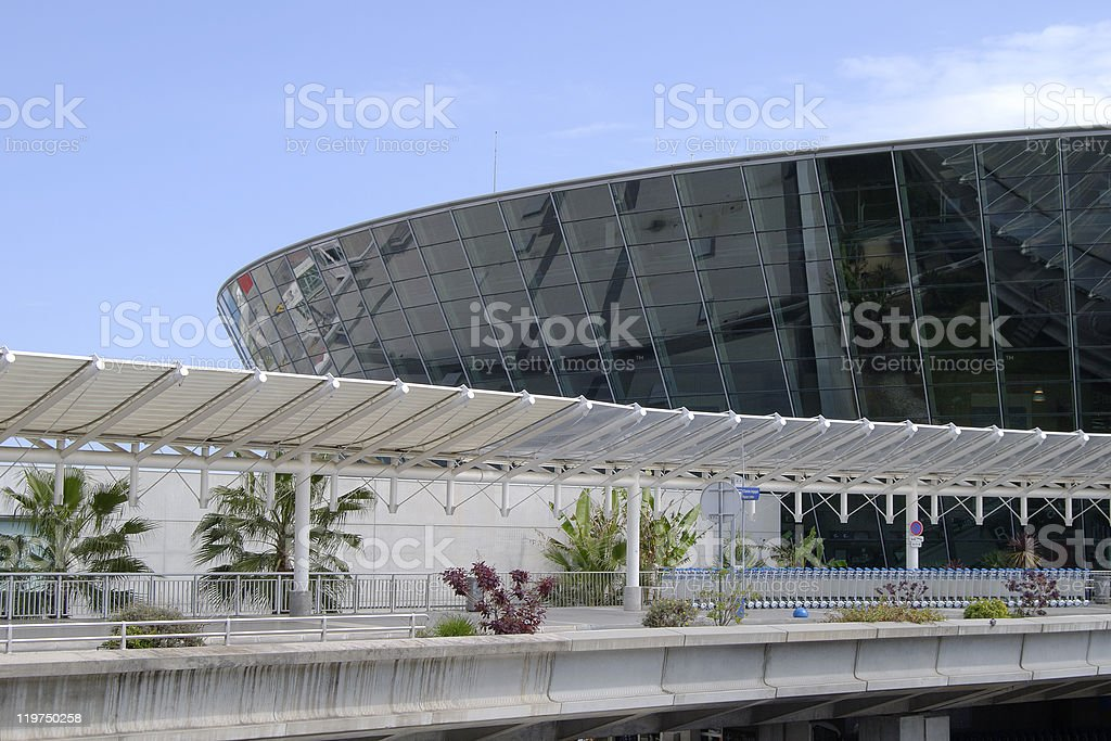 The terminal building at Nice airport in Provence, France royalty-free stock photo