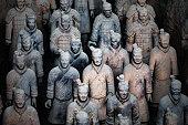 The Terra Cotta Warriors in xi an china