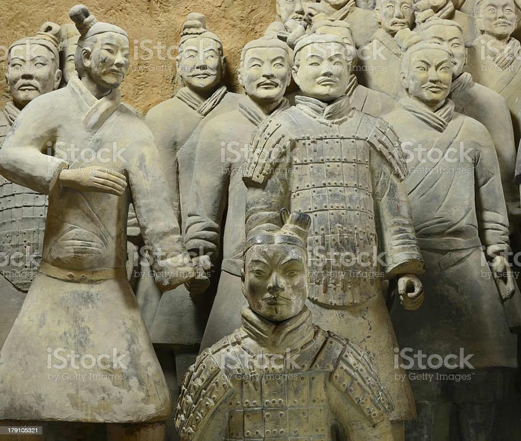 The Terra Cotta Warriors of Qinshihuang royalty-free stock photo