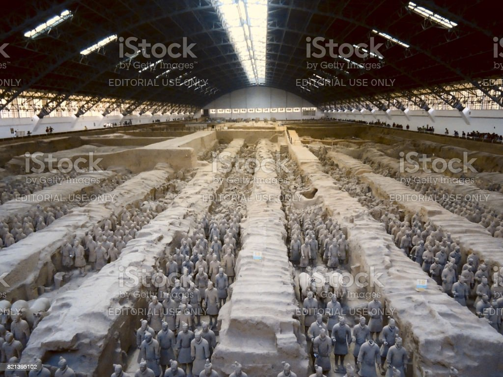 The Terracotta Army (Xi'an, China) stock photo