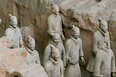 The Terracotta Army warriors at the tomb- China First Emperor in Xian-Unesco World Heritage site- Xian- Shaanxi- China -Asia