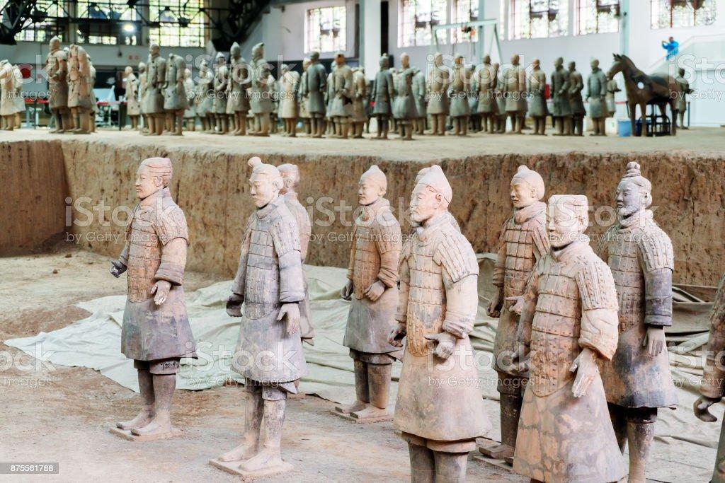 The Terracotta Warriors of China stock photo