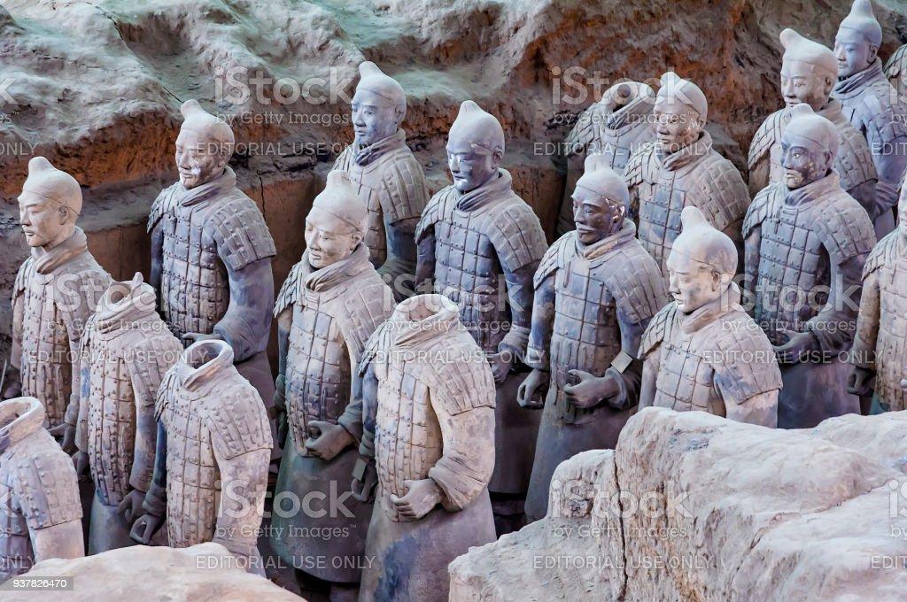 The Terracotta Warriors of Xi'an, China stock photo