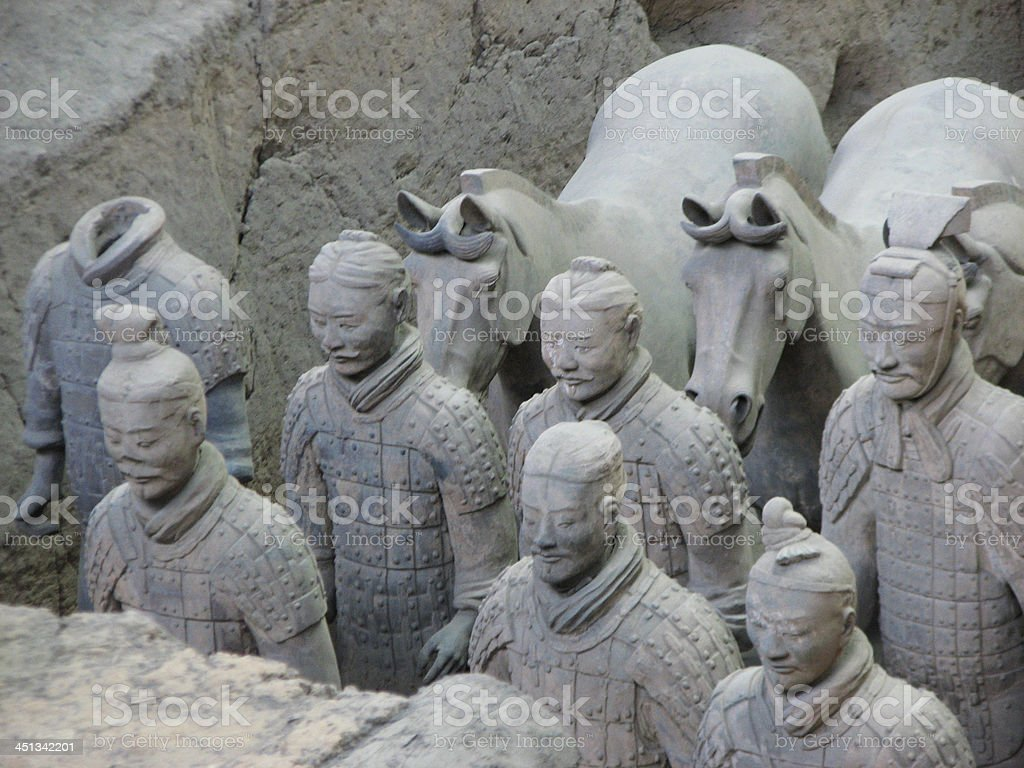The Terracotta Warriors stock photo