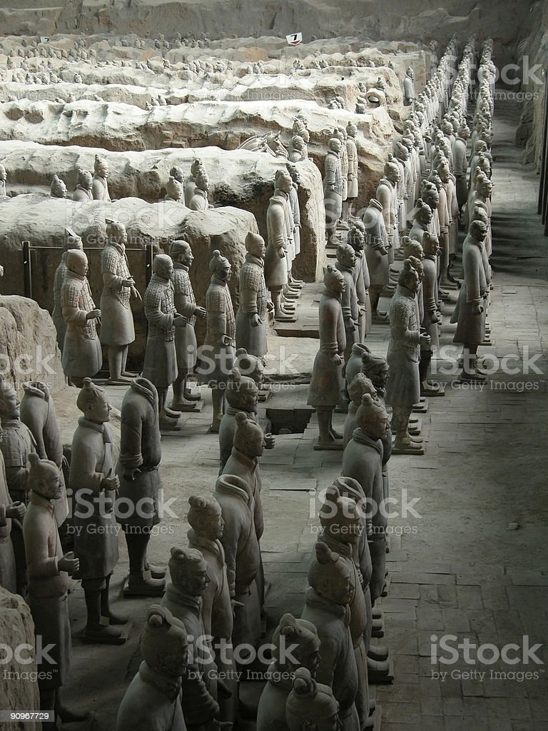 The Terracotta Warriors. royalty-free stock photo