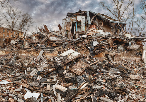 istock the terrible ruins of the residential building as a result of earthquake 1147788529