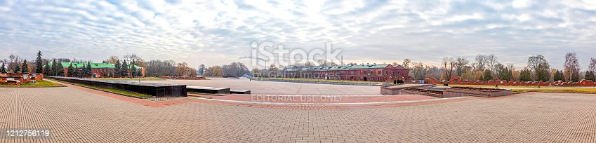 istock The territory of the Brest Fortress. Republic of Belarus. Panorama 1212756119
