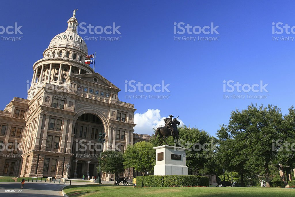 The Texas State Capitol Building against blue sky royalty-free stock photo