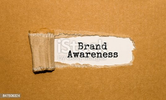 istock The text Brand Awareness appearing behind torn brown paper 847506324