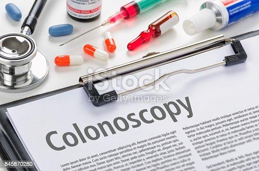 istock The text Colonoscopy written on a clipboard 845870280