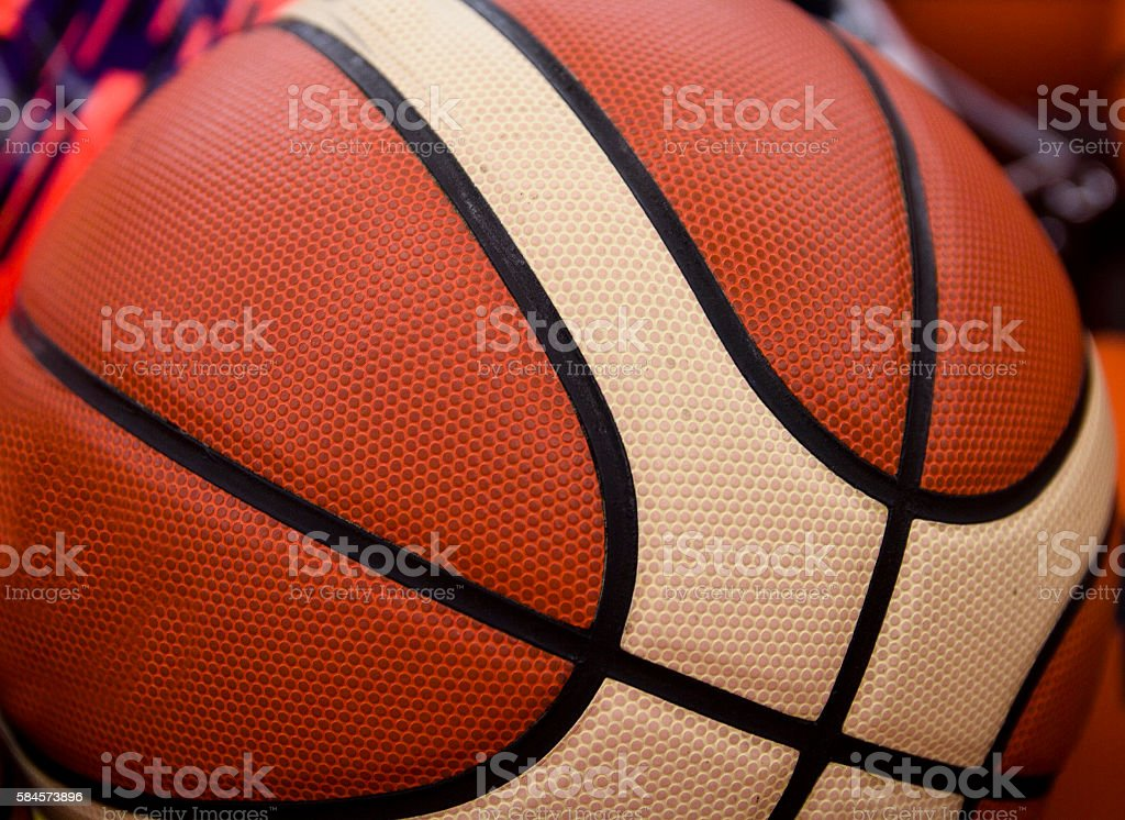 texture basketball ball closeup as background, texture