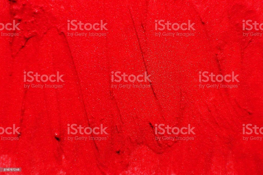Текстура мазков из красная помада стоковое фото