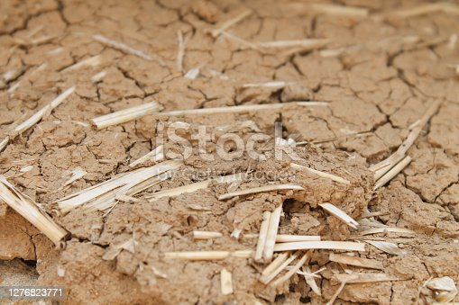Clay and straw texture closeup.