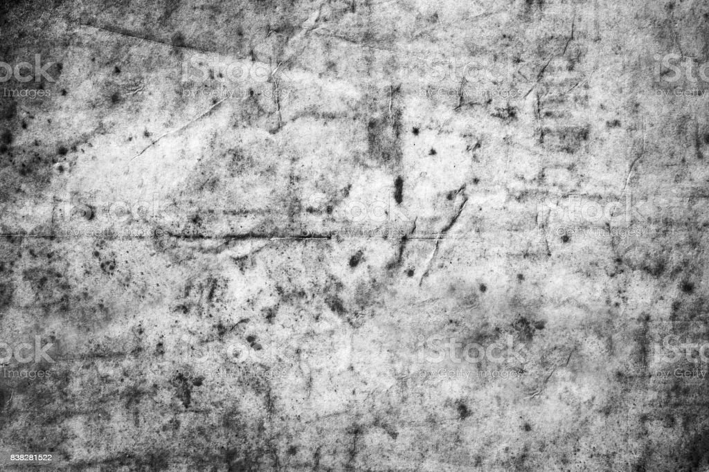 The texture of dirty and crumple old paper . Black and white stock photo