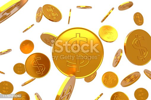 872222012istockphoto The texture of gold dollar coins. 1170123040