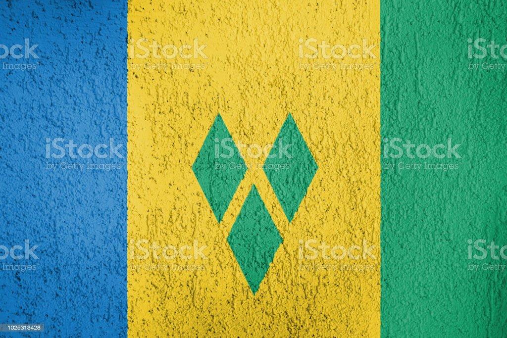 A textura da bandeira de São Vicente e Granadinas - foto de acervo