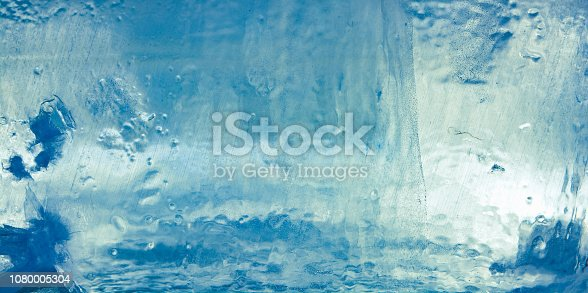istock The texture of the ice. The frozen water.Winter background 1080005304