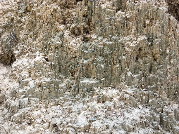 The texture of the mountain surface stock photo