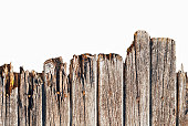 istock the texture of the old rotten wooden fence, isolated 838931750