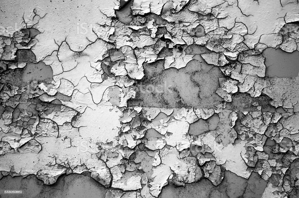 The texture of the rusting metal in black white color stock photo