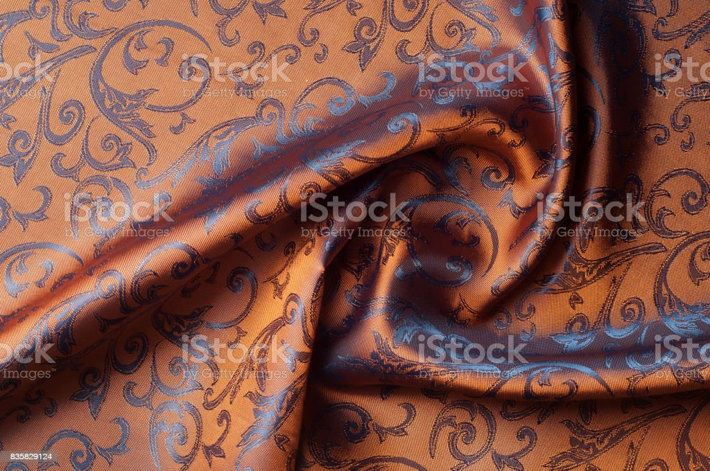 The texture of the silk fabric. stock photo