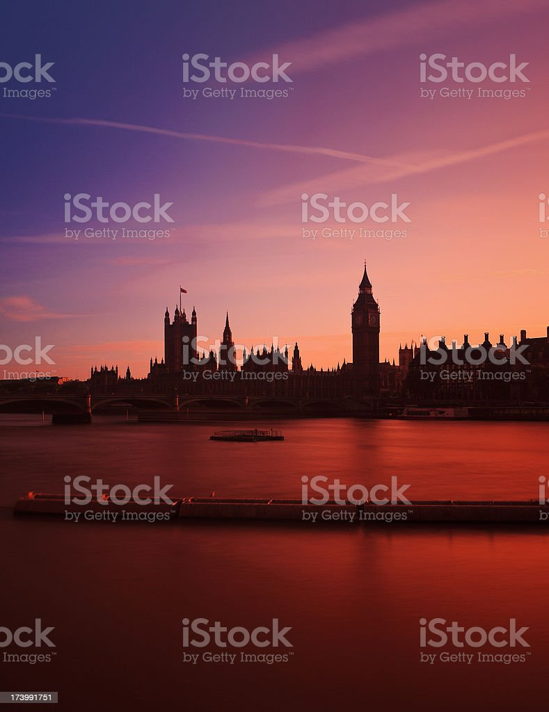 The Thames and London Skyline stock photo