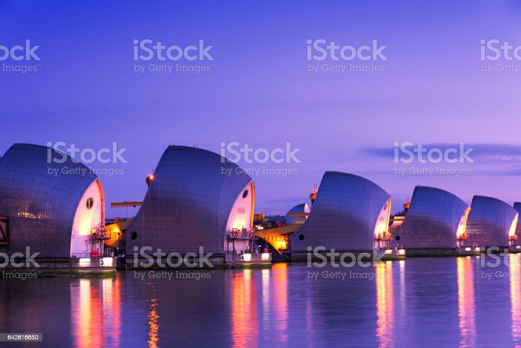 The Thames Barrier stock photo