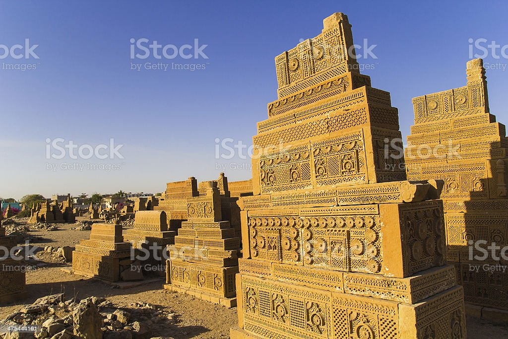 The The Chaukhandi TombsGraves stock photo