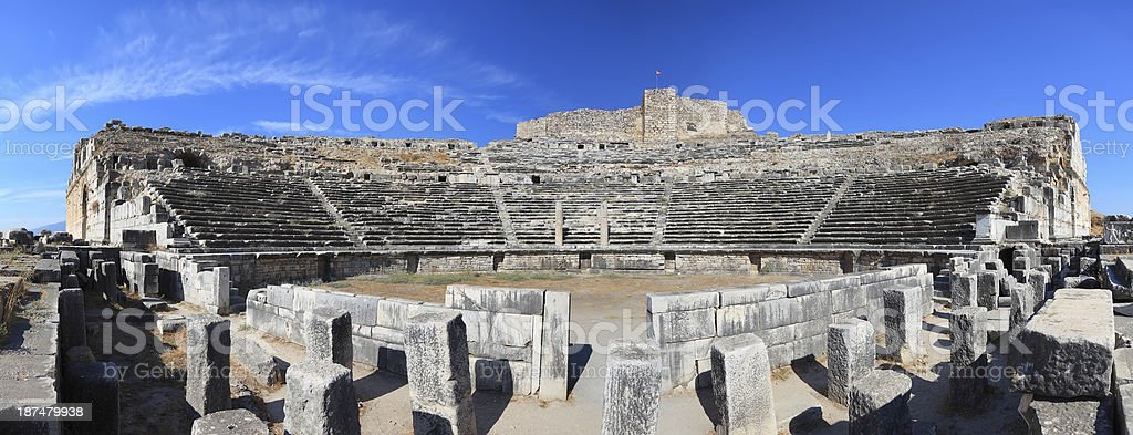 The Theater of Miletus - Panoramic royalty-free stock photo