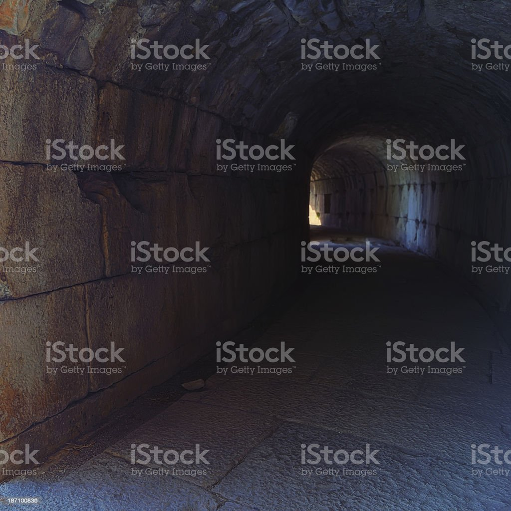 The Theater of Miletus - Tunnel royalty-free stock photo